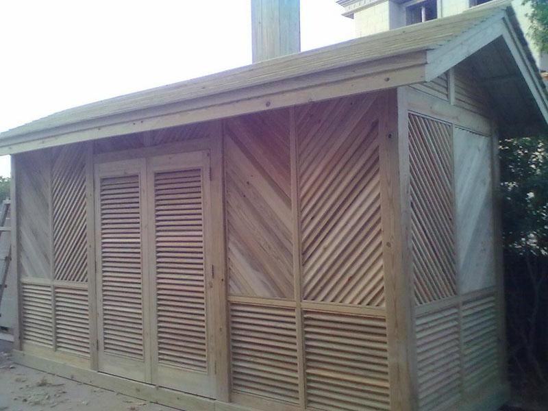 防腐木屋子