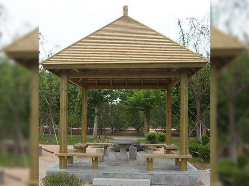 防腐木生态凉亭