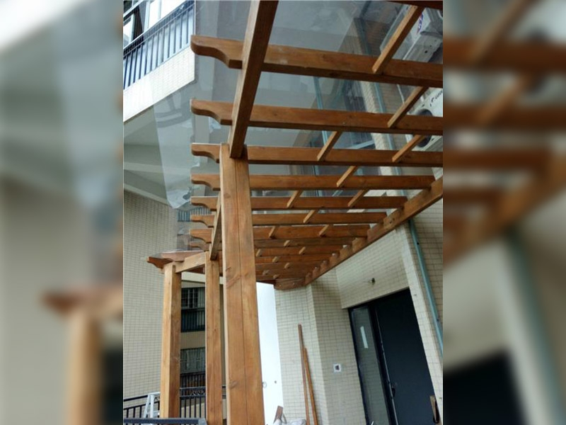 学校用防腐木花架