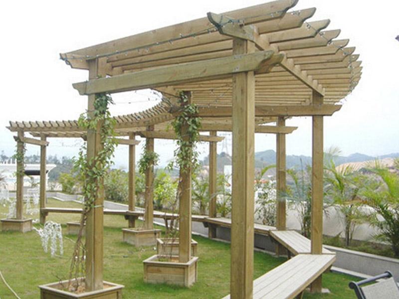 轻型防腐木花架