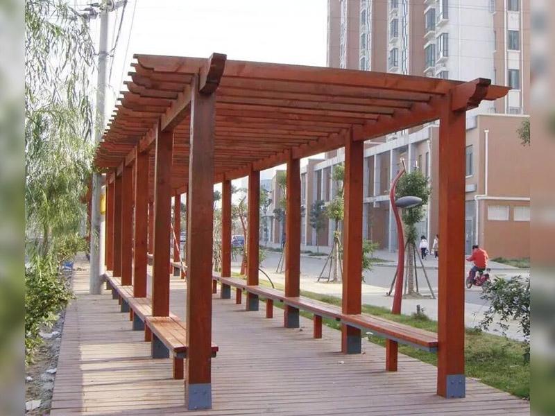 户外景观防腐木花架