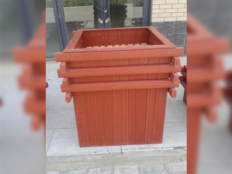 生态木防腐木花箱