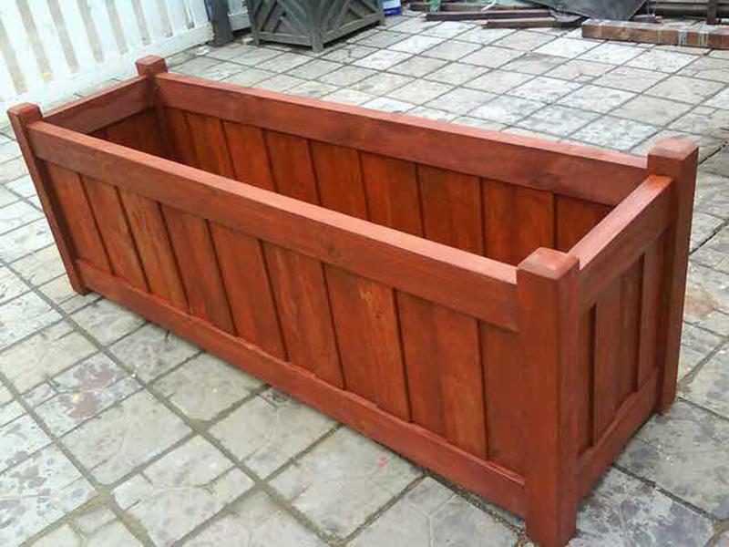 园林防腐木花箱