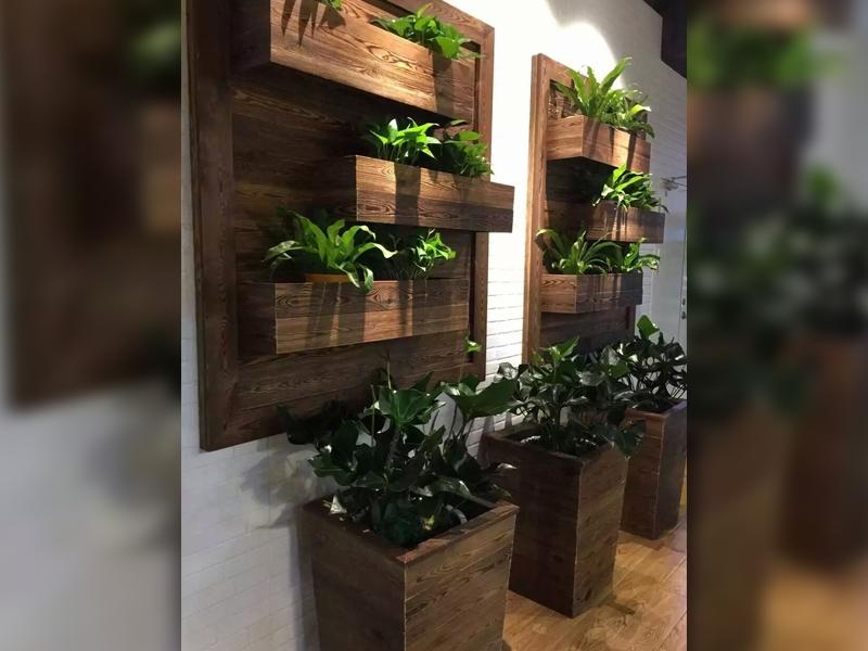 园林景观防腐木花箱