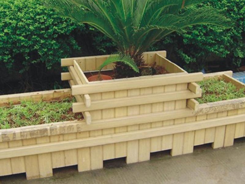 天然防腐木材花箱