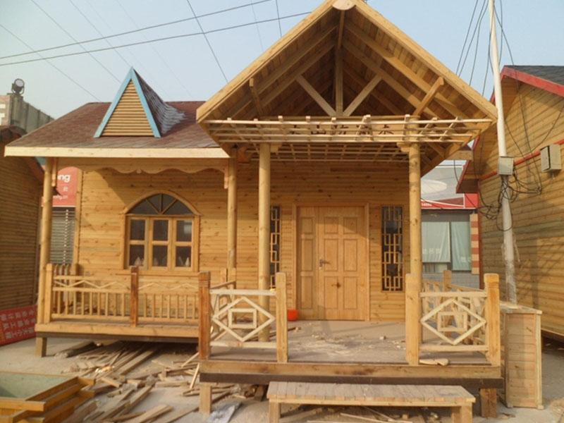 双层防腐木木屋