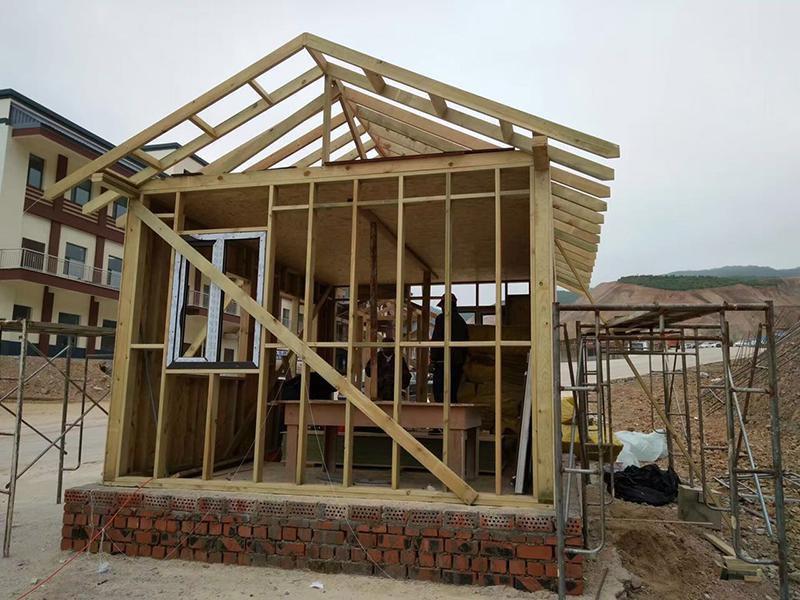 生态单层防腐木木屋