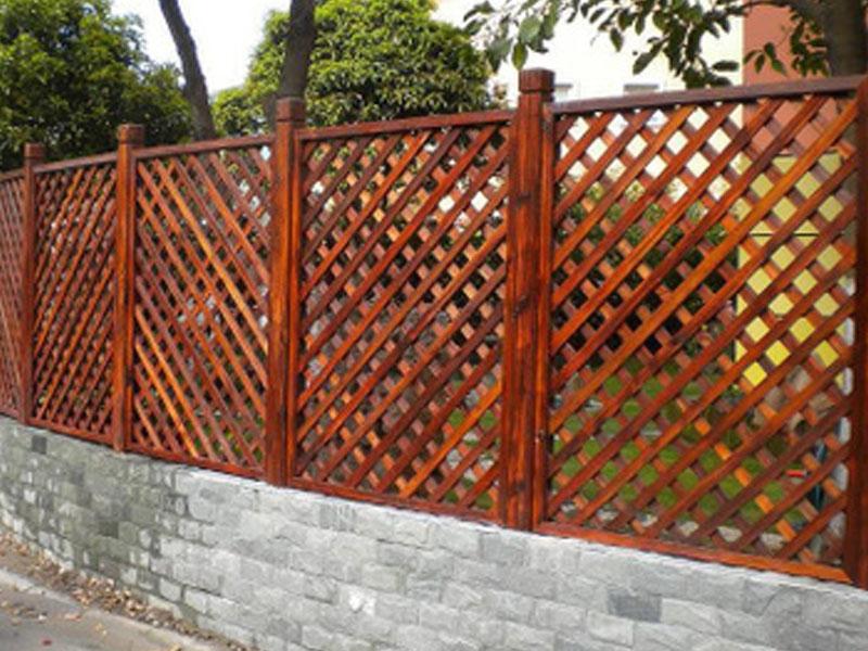 公园防腐木木栅栏