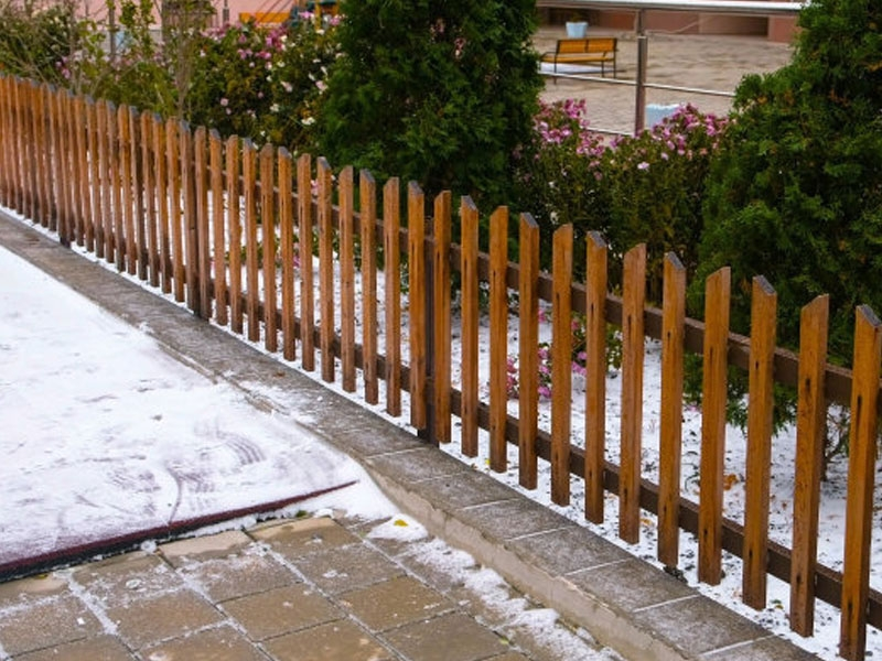阳台防腐木栅栏