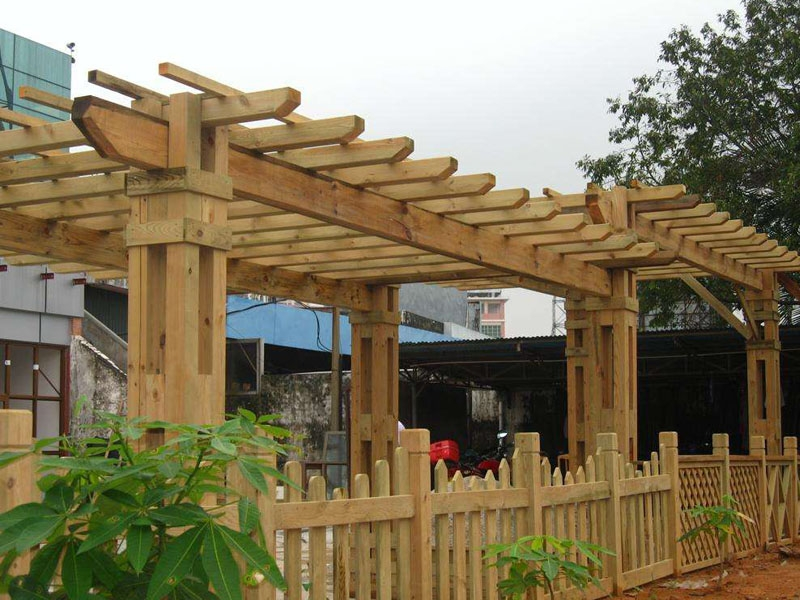 庭院休闲防腐木花架