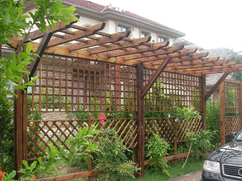 山东景观防腐木花架